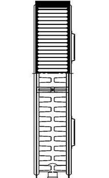 Конструкция панельного радиатора, тип 22